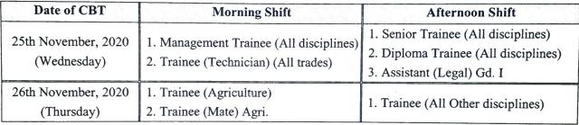 NSCL Exam Date 2020
