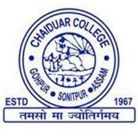 Chaiduar College Merit List 2021